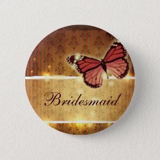 romantic butterfly fall wedding favor button