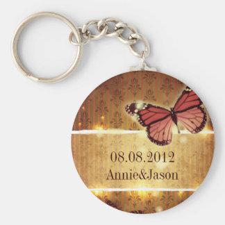 romantic butterfly fall wedding favor keychain