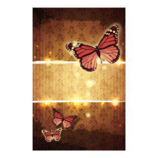 romantic butterfly fall wedding stationery