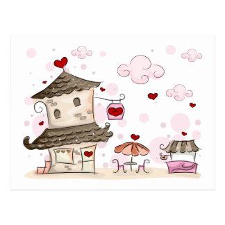 Romantic Cafe Postcard