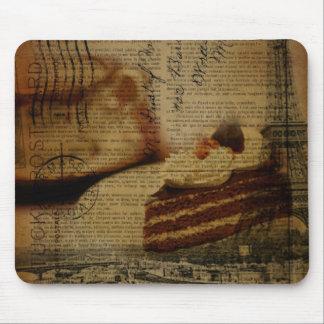 romantic cake lover Paris eiffel tower Mouse Pad
