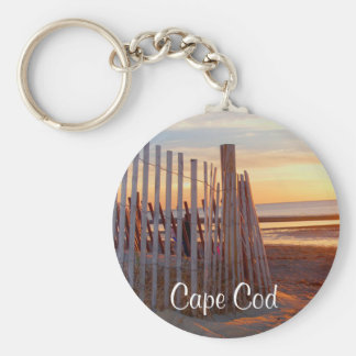 Romantic Cape Cod Mass Sunrise over Beach Keychain