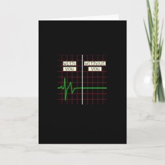 Romantic Card With Heart Beat Valentine's