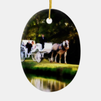 Romantic Carriage Horse Wedding Christmas Tree Ornaments