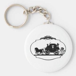 Romantic Carriage Sillhouette Key Chain