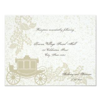 Romantic Carriage Wedding 4.25x5.5 Paper Invitation Card