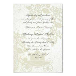 Romantic Carriage Wedding 5x7 Paper Invitation Card