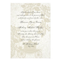 Romantic Carriage Wedding Personalized Announcement