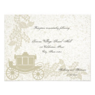 Romantic Carriage Wedding Personalized Invitations