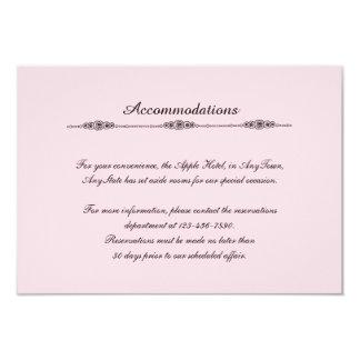 Romantic Cartoon Brides Gay Wedding Insert Card