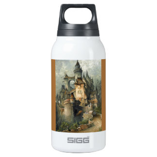 Romantic Castle 1903 ~ Hanns Bolz (1885-1918) Insulated Water Bottle