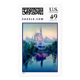 ROMANTIC CASTLE by SHARON SHARPE Stamp