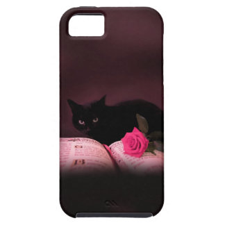 romantic cat book rose iphone5 case