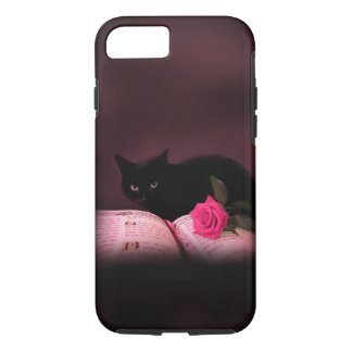 romantic cat book rose iPhone 7 case