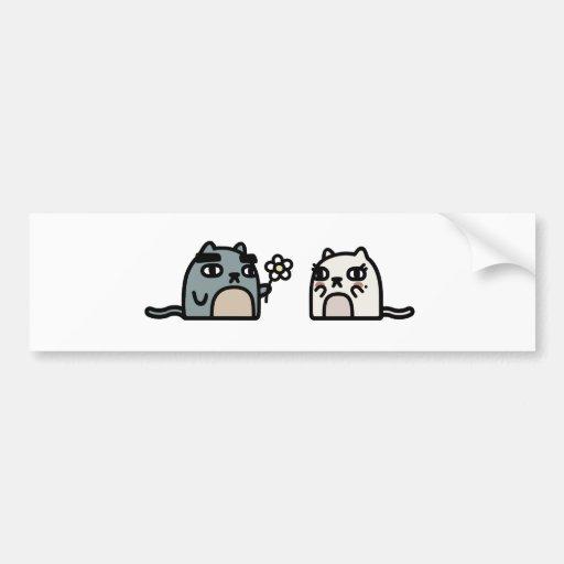 Romantic Cat Car Bumper Sticker