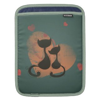 Romantic cats in love sleeves for iPads