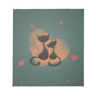 Romantic cats in love scratch pads