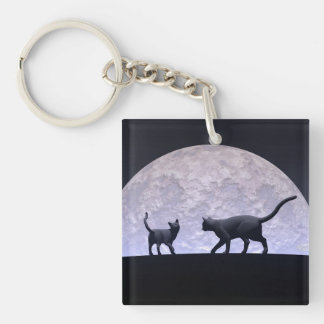 Romantic cats keychain