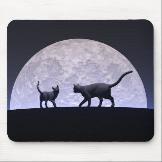 Romantic cats mouse pad