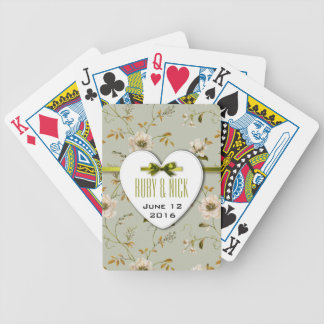Romantic Charm Vintage Floral Wedding collection Bicycle Playing Cards