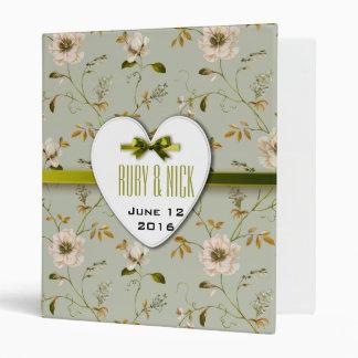 Romantic Charm Vintage Floral Wedding collection Binder