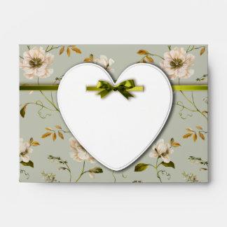 Romantic Charm Vintage Floral Wedding collection Envelope