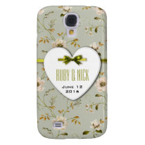 Romantic Charm Vintage Floral Wedding collection Galaxy S4 Case
