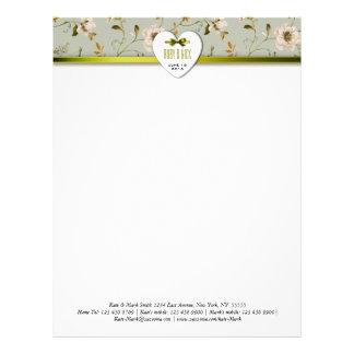 Romantic Charm Vintage Floral Wedding collection Letterhead