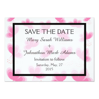 Romantic Cherry Blossom Wedding Save The Date Card