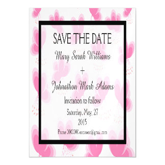 Romantic Cherry Blossom Wedding Save The Date Magnetic Card