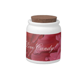 Romantic chic red love roses candy dish