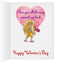 Romantic Chicken Valentine Card