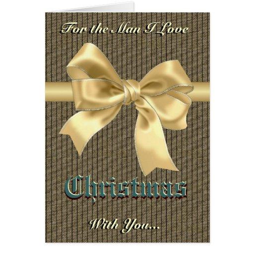 Romantic Christmas for him Card