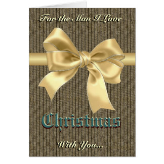 Romantic Christmas for him Greeting Card