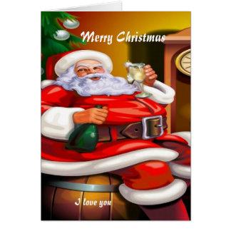 Romantic Christmas Greeting Card
