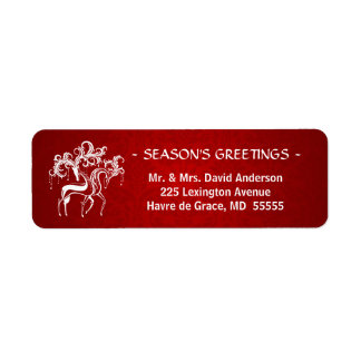 Romantic Christmas Stag and Doe - Red and White Label