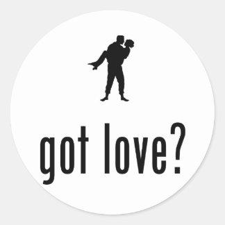 Romantic Classic Round Sticker