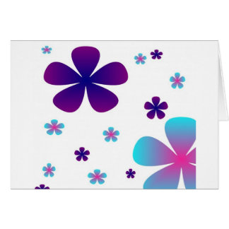 Romantic color Flowers Thank You Card