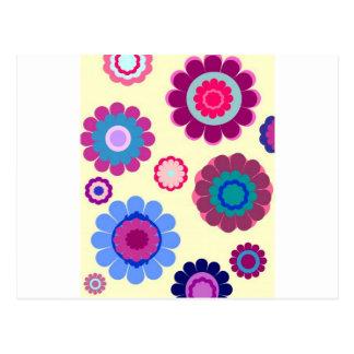 Romantic color Flowers Thank You Postcard