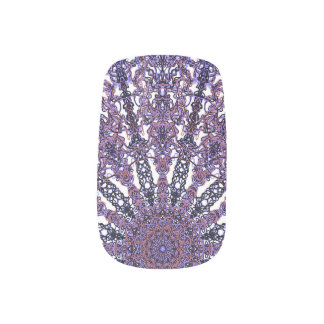Romantic colored mandala ornament arabesque minx nail art