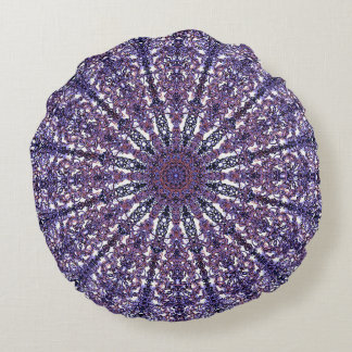Romantic colored mandala ornament arabesque round pillow