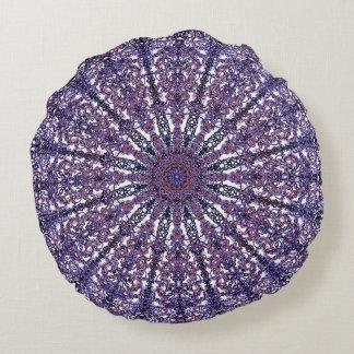 Romantic colored mandala ornament arabesque round pillow