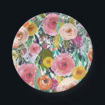 "Romantic Colorful Flowers Paper Plate<br><div class=""desc"">Romantic Colorful Flowers</div>"