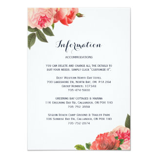 Romantic Coral Peonie Detail Cards