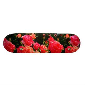 Romantic Coral Roses Skateboard Deck