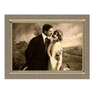 Romantic Couple - adoring husband Postcards