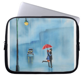 Romantic couple and a red umbrella G Bruce art Computer Sleeve