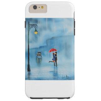 Romantic couple and a red umbrella G Bruce art Tough iPhone 6 Plus Case