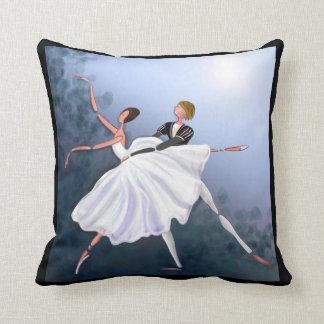 ROMANTIC COUPLE DANCING AT MOONLIGHT BALLET PILLOW