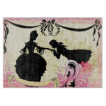 Romantic Couple Fairytale Silhouettes & Castle Cutting Boards
